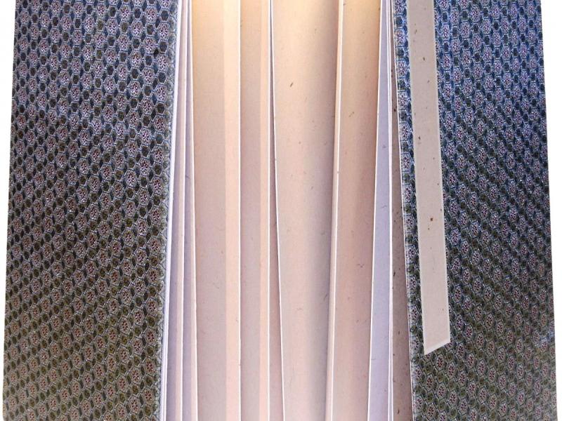 冊頁部 錦緞面 42cm Brocade Concertina Book
