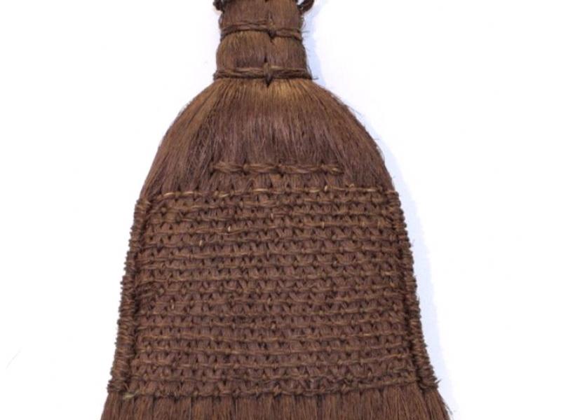 裱畫棕掃有柄 17cm Palm Fibre Smoothing Brush with Handle