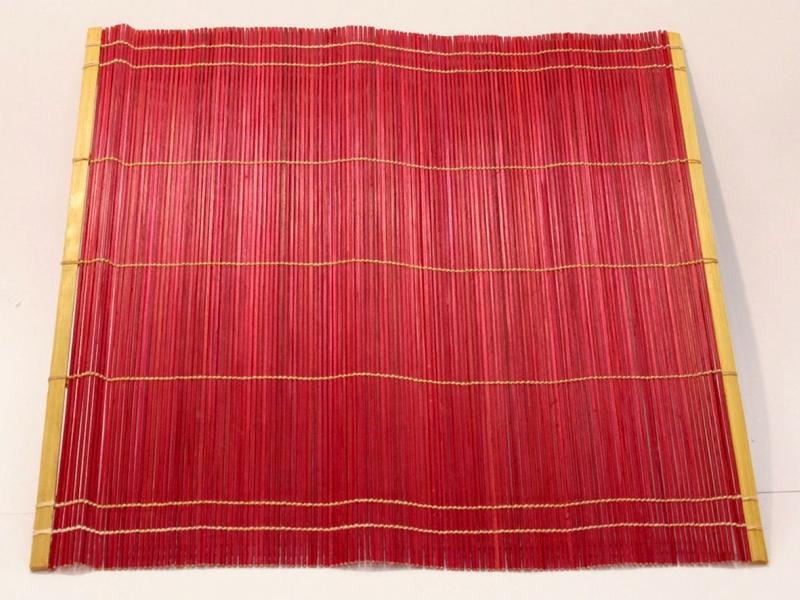 紅竹筆卷 Red Bamboo Brush Mat