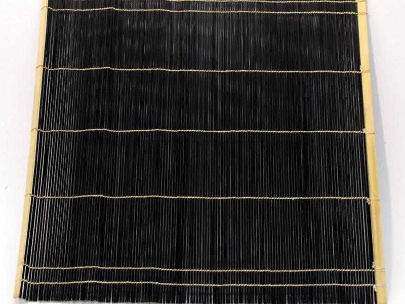 黑竹筆卷 Black Bamboo Brush Mat