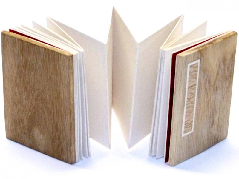 9cm Wooden Concertina Book 冊頁部 木面