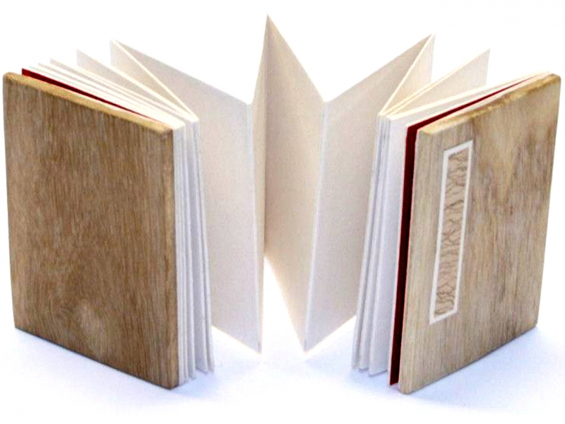 冊頁部 木面  7cm Wooden Concertina Book