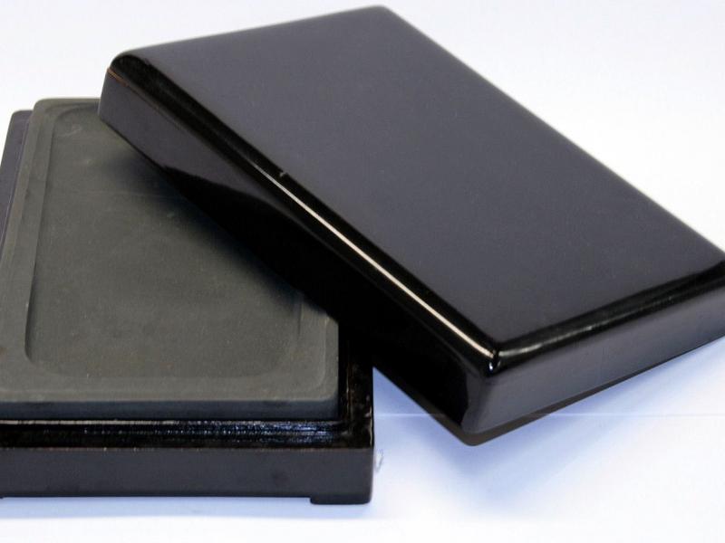 端硯木合裝大 Large  Artist Grade Ink Stone in Wooden Box