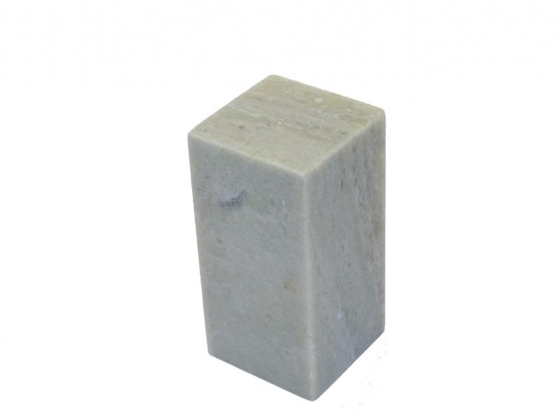 青田石方平頭印 35mm Qingtianshi Square Plain Seal Stone