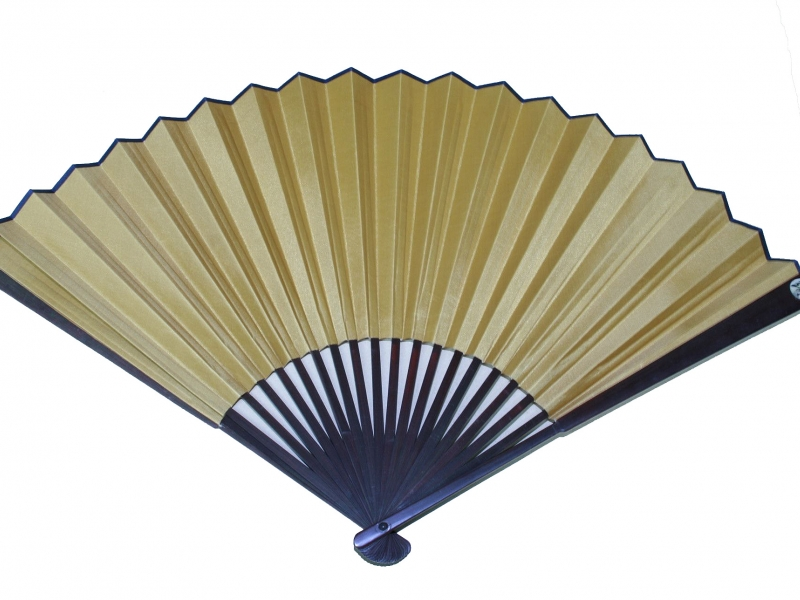 33cm Dark Brown Polished Fan