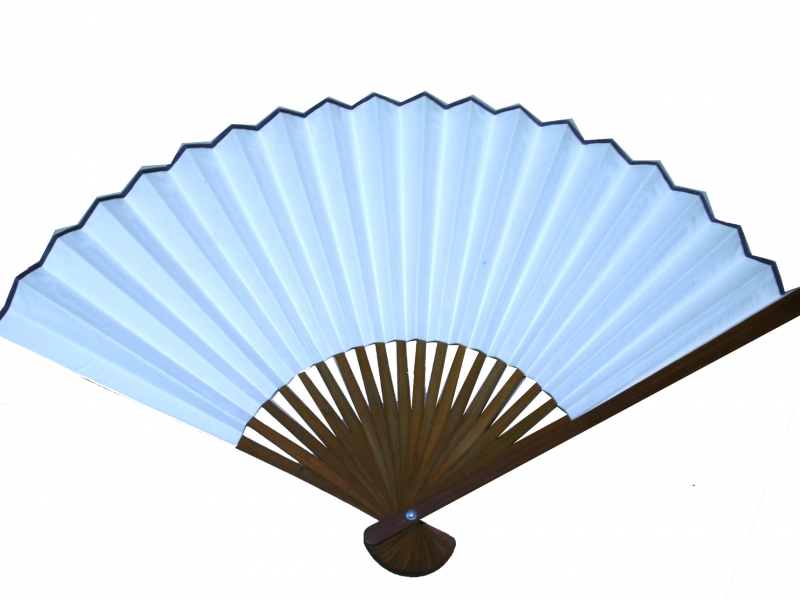 30cm Japanese Dark Brown Bamboo Fan