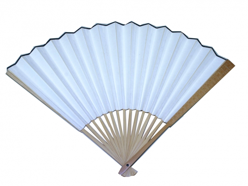 30cm Light Brown Polished Fan