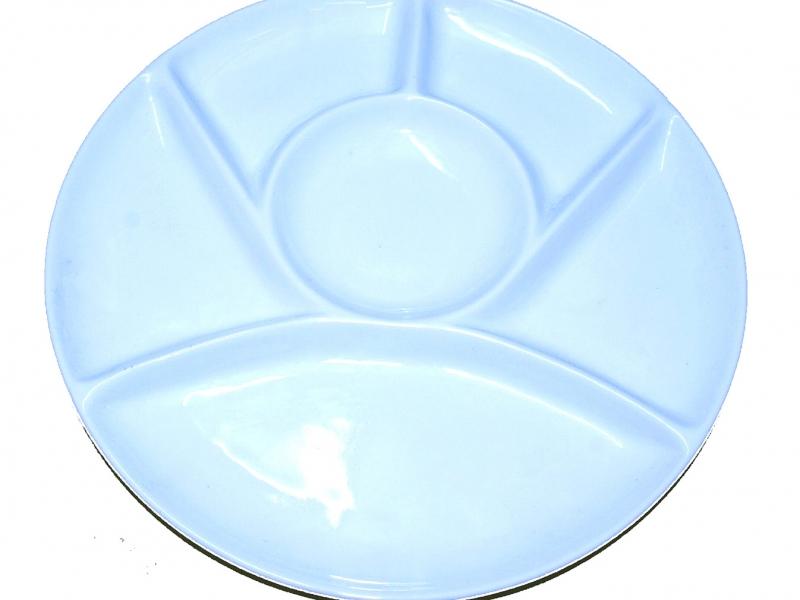 大白瓷調色碟 23cm White Ceramic Color Mixing Plate
