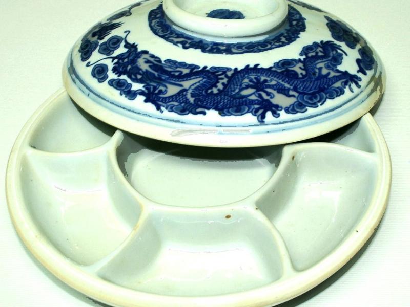 20cm Blue Ceramic Color Mixing Dish