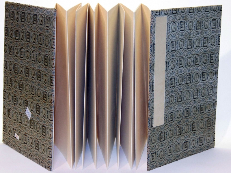 冊頁部 錦緞面 32cm Brocade Concertina Book