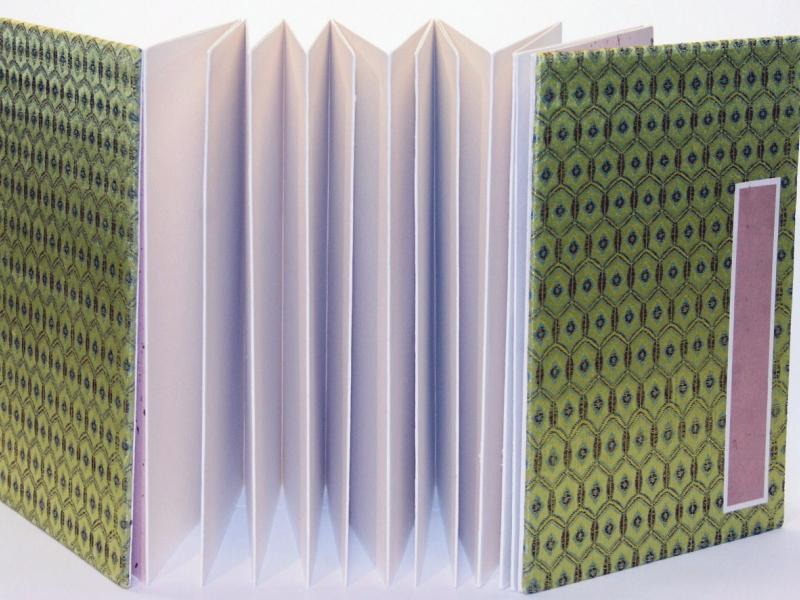 冊頁部 錦緞面 12cm Brocade Concertina Book