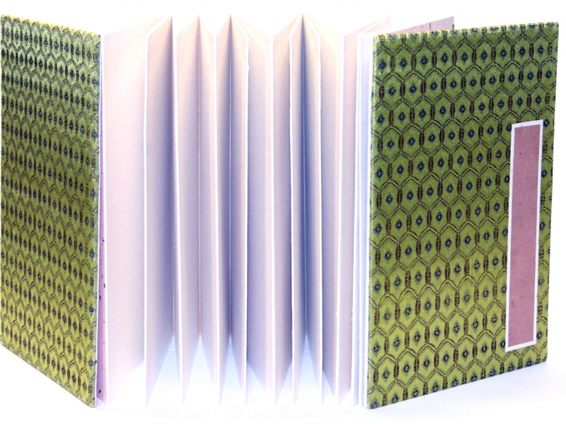 冊頁部 錦緞面 25cm Brocade Concertina Book