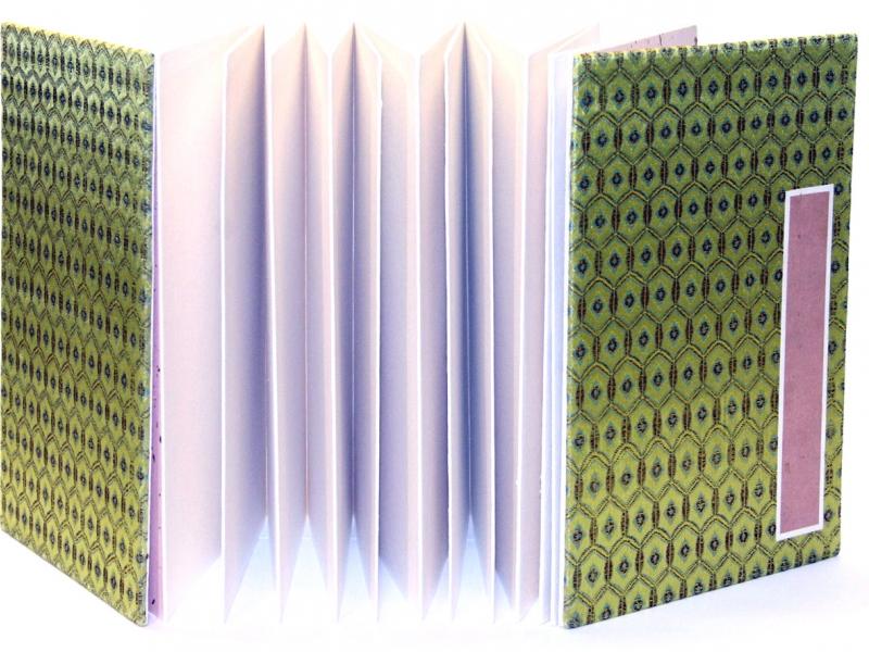冊頁部 錦緞面 25cm Brocade Concertina Book