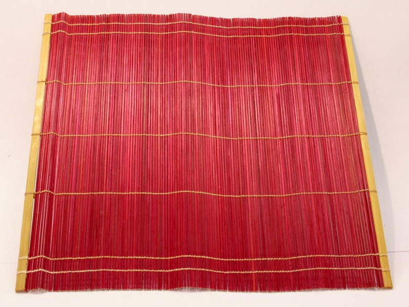 紅竹筆卷 Red Bamboo Brush Mat