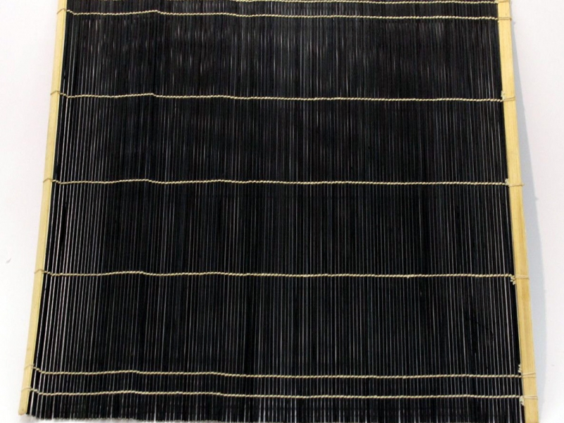 黑竹筆卷 Black Bamboo Brush Mat