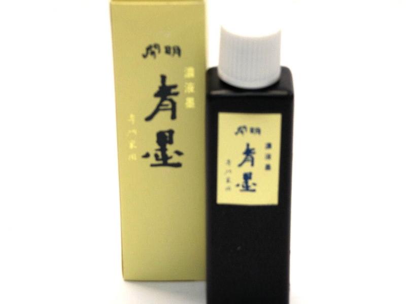 100ml Kai Ming Extra Dense Indigo Black/Blue Ink