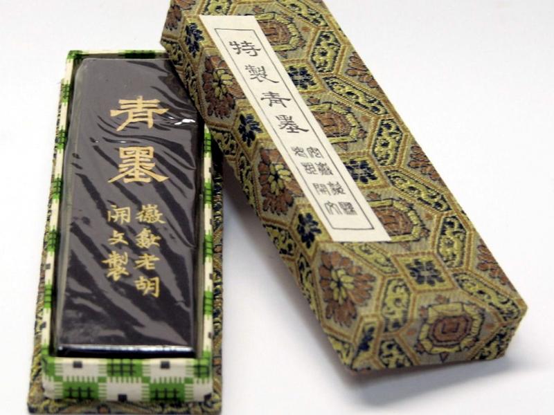 胡開文特製青茶墨條 2 tael Special Indigo Tea Ink Stick