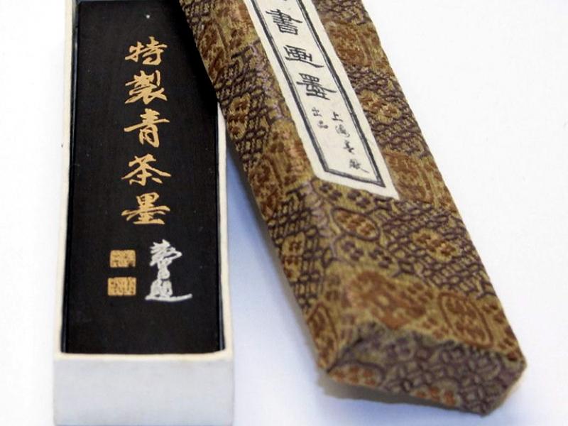 胡開文特製青茶墨條 1 tael Special Indigo Tea Ink Stick- Ching Tsah Mau