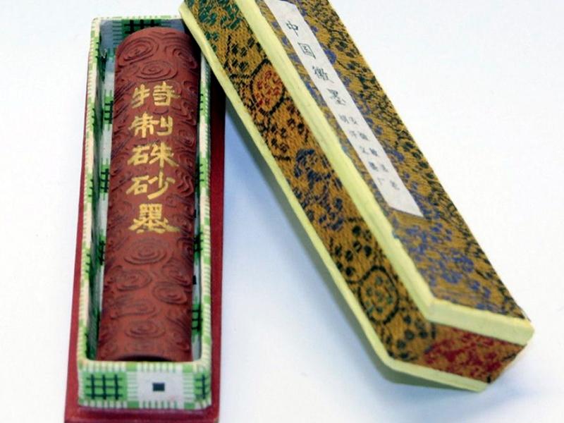 中國徽墨胡開文特製硃砂墨條 2 tael Special Cinnabar Ink Stick