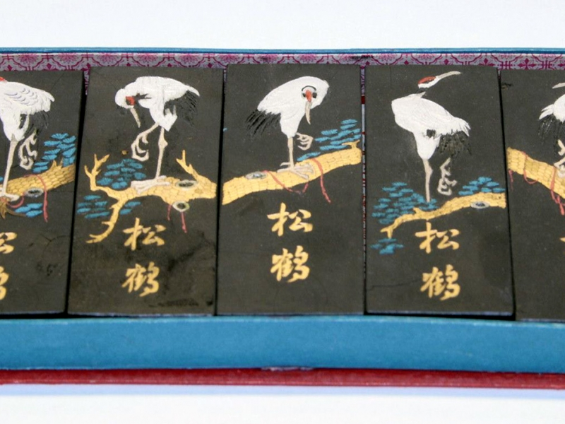 松鶴五墨條 Pine and Crane Black Ink Stick Set