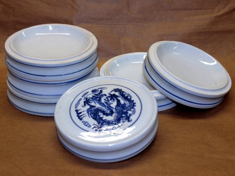 11cm Blue Pattern Colour Stacking Dish 大藍五組缸