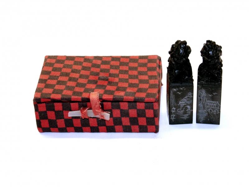 錦盒巴林彩凍獅頭對印 15mm Balin Colour Crystal Lion Head Set