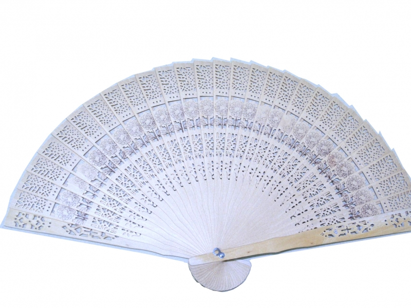 20cm Rose Sandlewood Fan