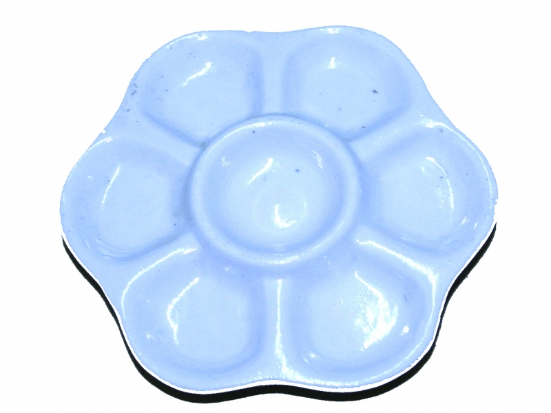 12cm White China Color Mixing Dish
