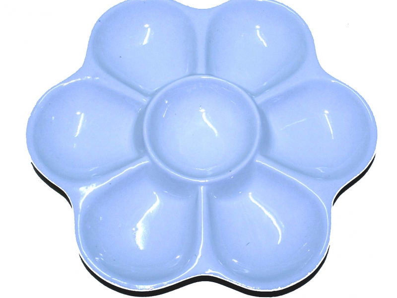 20cm White China Color Mixing Dish