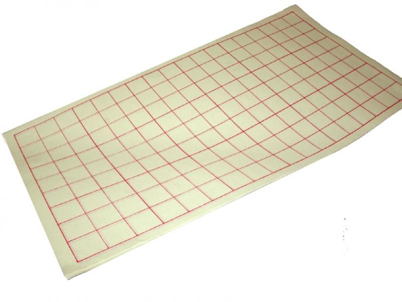 3.5cm Red Woodblock Practice Paper