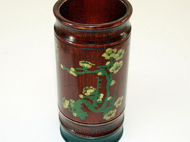 7cm Painted Bamboo Brush Pot