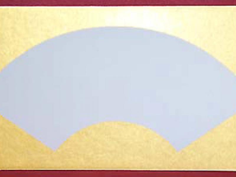 畫仙卡扇形 金邊 Japanese Paint and Hang Card Fan Shaped