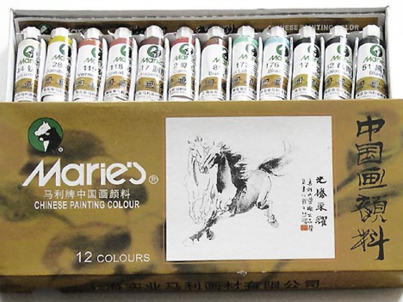 中國畫顏料 Horse Brand Maries Chinese Painting Colour Set